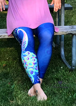 Peacock leggings | Plum Hanger