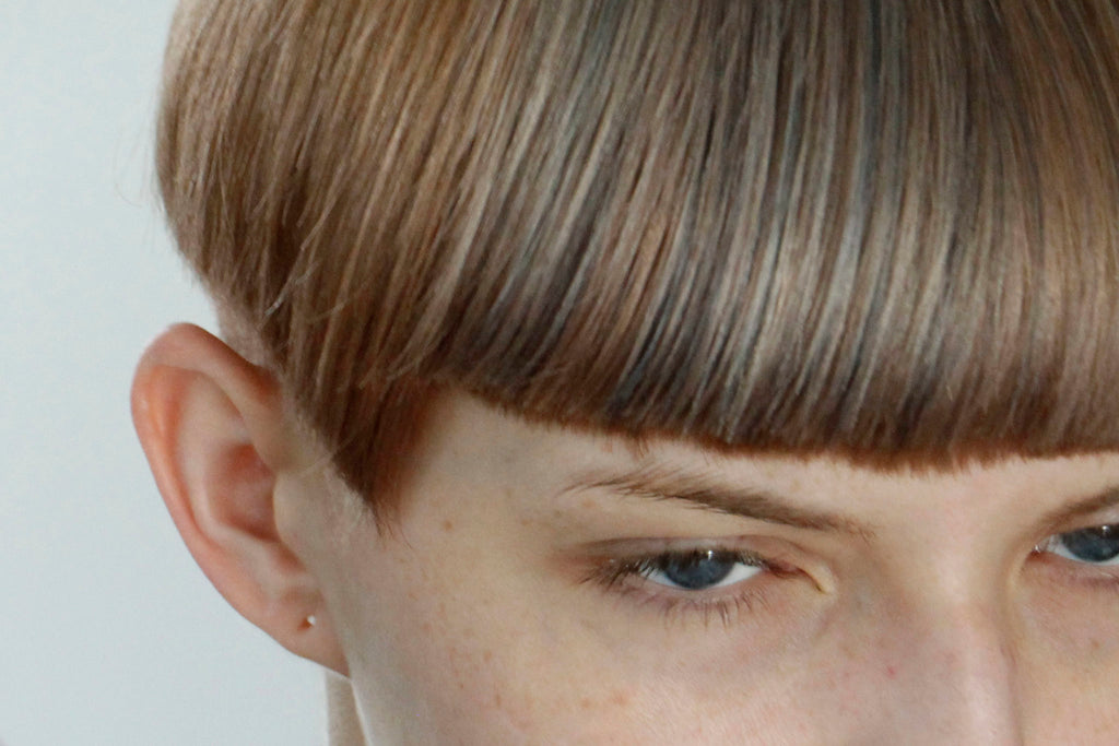 Blunt cuts and geometric hair