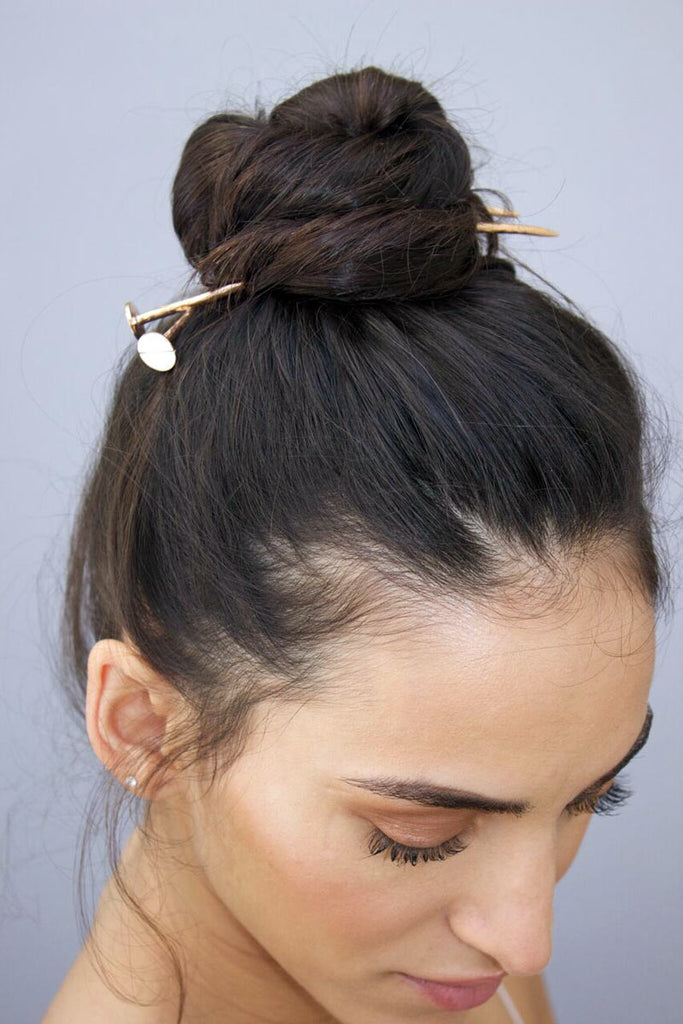DOUBLE NAIL CHIGNON IN GOLD PLATE