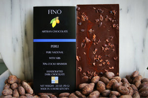 SINGLE ORIGIN DARK CHOCOLATE BAR WITH NIBS