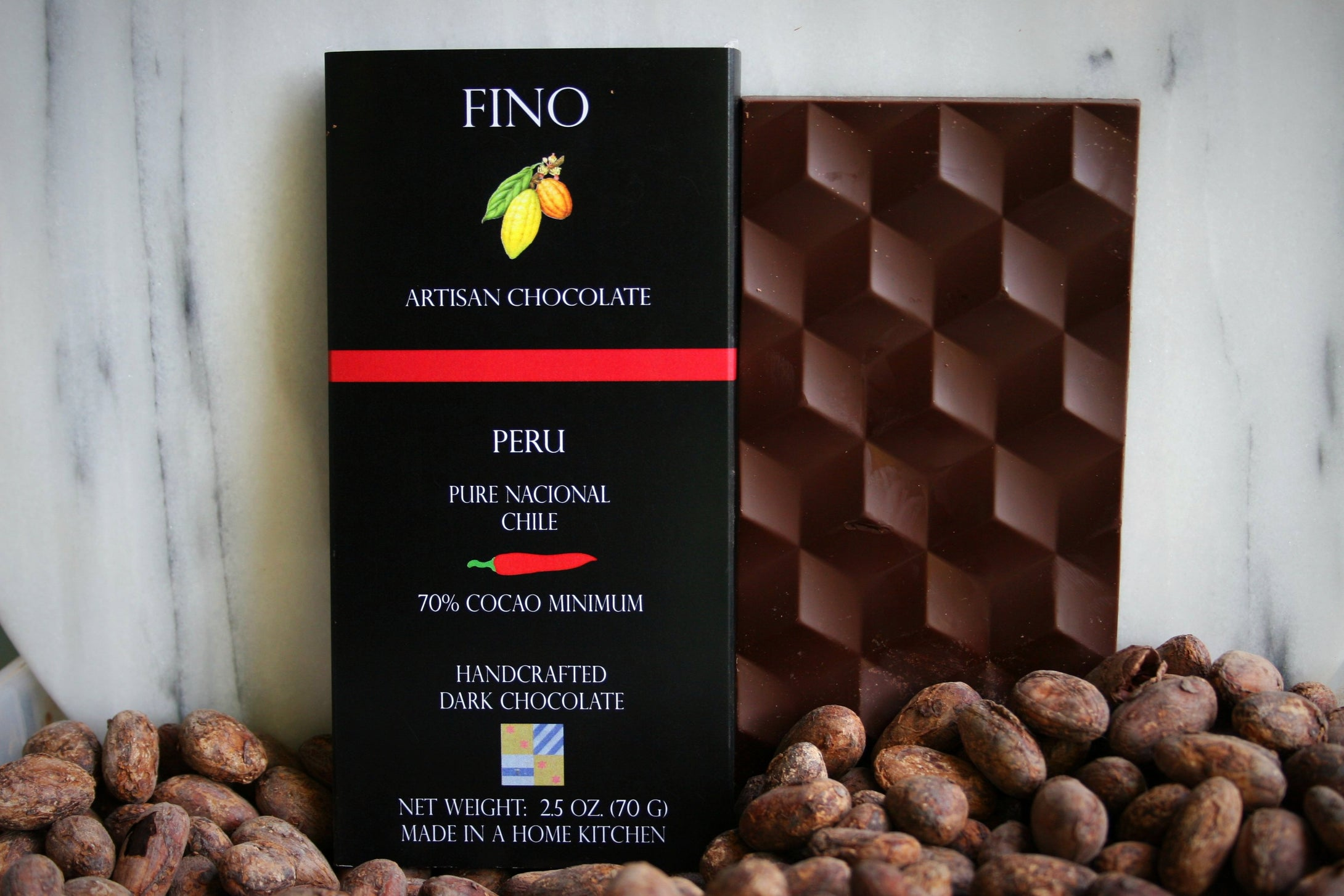 SINGLE ORIGIN DARK CHOCOLATE BAR WITH CHILE