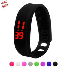 Load image into Gallery viewer, Stylish wholesale Men Women Relogio Rubber LED Watch Date Sports Bracelet Digital Wrist Watch DROP SHIPPING J17W30 HY