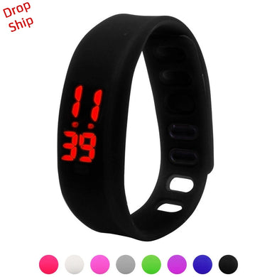 Stylish wholesale Men Women Relogio Rubber LED Watch Date Sports Bracelet Digital Wrist Watch DROP SHIPPING J17W30 HY