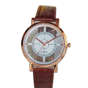 Quartz Wristwatches  Reloj Simple   Leather  Buckle   Hours Watch Luxury Business  Casual  Watch Men 18MAR7