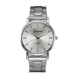 Women Watches  Top Brand Military Wristwatches   Stainless Steel  Fashion Silver Luxury   Clock  Woman  Quartz Watch   18MAY17