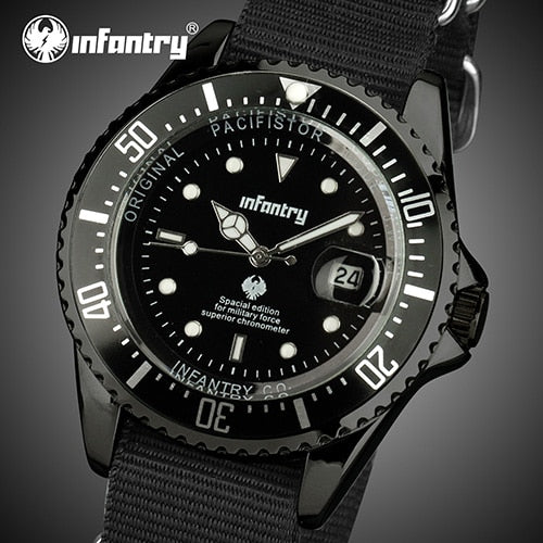 INFANTRY Mens Watches Top Brand Luxury Military Watch Men Luminous Army Tactical Nato Strap Watches for Men Relogio Masculino