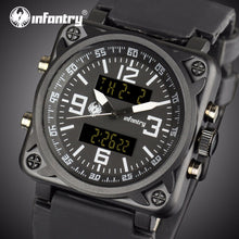 Load image into Gallery viewer, INFANTRY Mens Watches Top Brand Luxury Military Watch Men Aviator Analog Digital Watches for Men Army Square Relogio Masculino