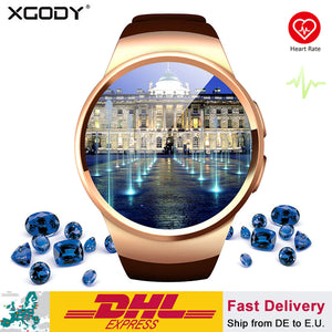 XGODY KW18 Smart Watch Connected Wristwatch For Samsung Xiaomi Android Support Heart Rate Monitor Call Messager Smartwach phone