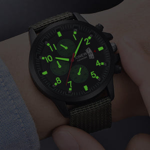 XINEW Men's Military Steel Military Date Quartz Analog Army Casual Dress Wrist Watches Dropshipping 0807