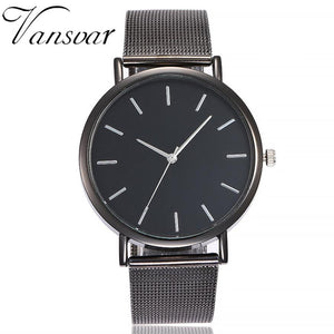 vansvar Casual Quartz Stainless Steel Band Marble Strap Watch Analog Wrist Watch woman watch 2018 brand luxury fashion wach
