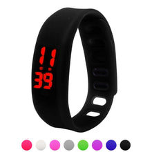Load image into Gallery viewer, Womens Mens Rubber LED Watch Date Sports Bracelet Digital Wrist Watch