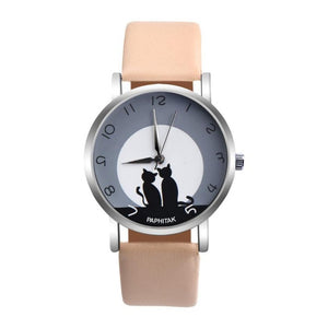 OTOKY Women Watches Cute Cat Faux Leather Strap Relojes mujeres Analog Quartz Watch relogios Wristwatches Dropshipping Feb09
