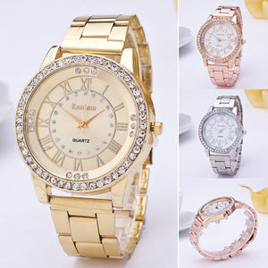 2019 Fashion Luxury Women Watches Crystal Rhinestone Stainless Steel Quartz Wrist Watch Relogio Feminino Saat Montre Femme Gift