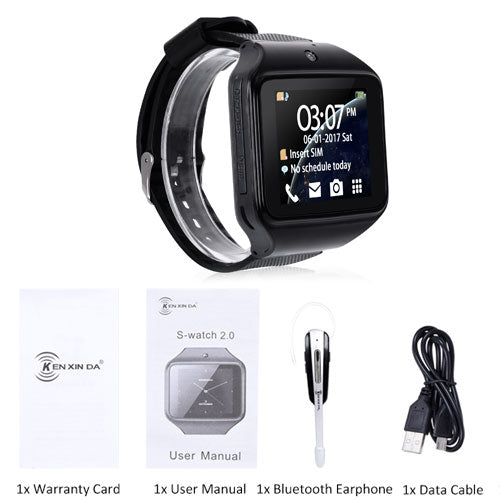 XGODY S2.0 Bluetooth Smart Watch Phone Call Smartwatch SIM TF Card 0.3MP Camera Men Women Wearable Devices for IOS Android