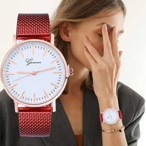 2019 Fashion Brand Watches ladies GENEVA Women Classic Quartz Silica Gel Wrist Watch Bracelet Watches With Crystals Clocks