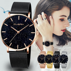 2019  Watches  Brand Luxury Casual Ladies Watch Starry Sky Diamond Dial Women Bracelet Watches Magnetic Stainless dropshipping
