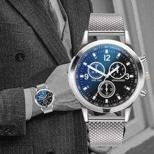 2019 Chronograph Men's Casual Sport Quartz Watch Mens Watches Top Brand Luxury Leather Strap Military Watch men Wrist Male Clock