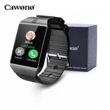 Load image into Gallery viewer, Cawono DZ09 Smart Watch Bluetooth Smartwatch Relogio TF SIM Card Camera for iPhone Samsung HTC LG HUAWEI Android Phone VS Q18 Y1