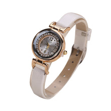 Load image into Gallery viewer, Ladies quartz wristwatch reloj mujer Women Fine Leather Band Diamond Analog Quartz Movement Wrist Watch Ladies Wristwatch Clock