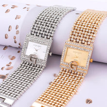 Load image into Gallery viewer, 2019  Watches  Brand Luxury Casual Women Round Full Diamond Bracelet Watch Analog Quartz Movement Wrist Watch dropshipping
