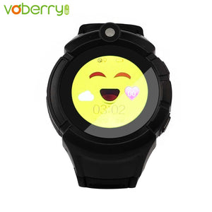 Voberry Smart Watch kids Touch Round Screen Turntable GPS Positioning Baby Smart Watch SOS Anti-verloren Monitor Tracker Watches