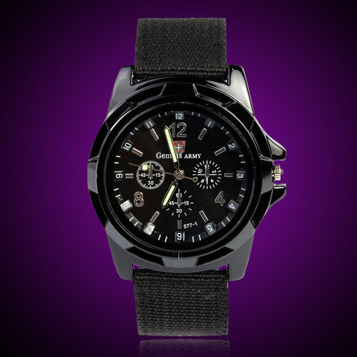 GEMIXI High Quality Men Wrist Watches Gemius Army Racing Force Military Sport Fabric Band Black reloj hombre kol saati