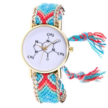 Load image into Gallery viewer, Free Shipping Chemical Formula Weaved Rope Bracelet Watch 170630