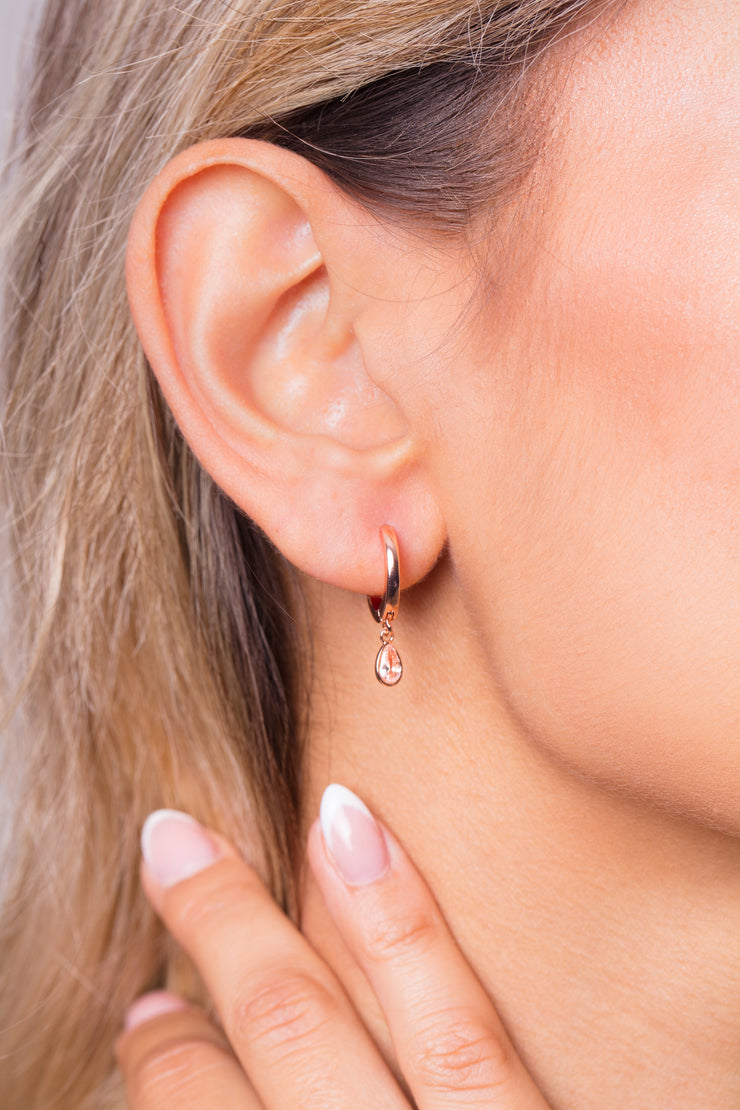 Rainfall Noamy Earrings 18k Rose Gold Plated