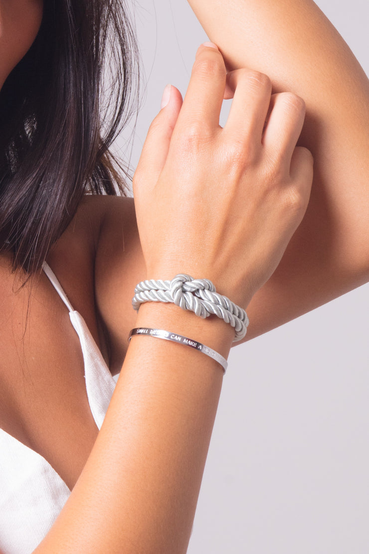 Dolce Vita Classic Grey &  Simplicity Bangle Details Silver
