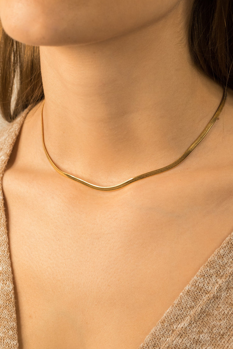 Simplicity Adelie Necklace 18k Gold Plated