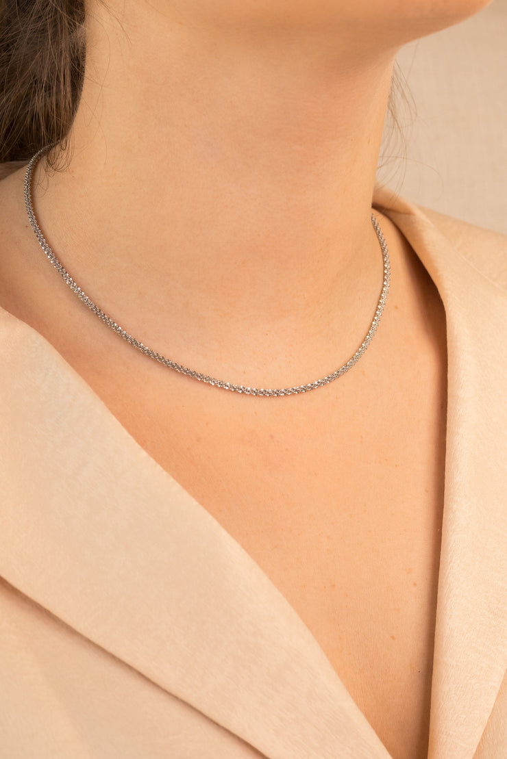 Simplicity Abby Necklace Silver