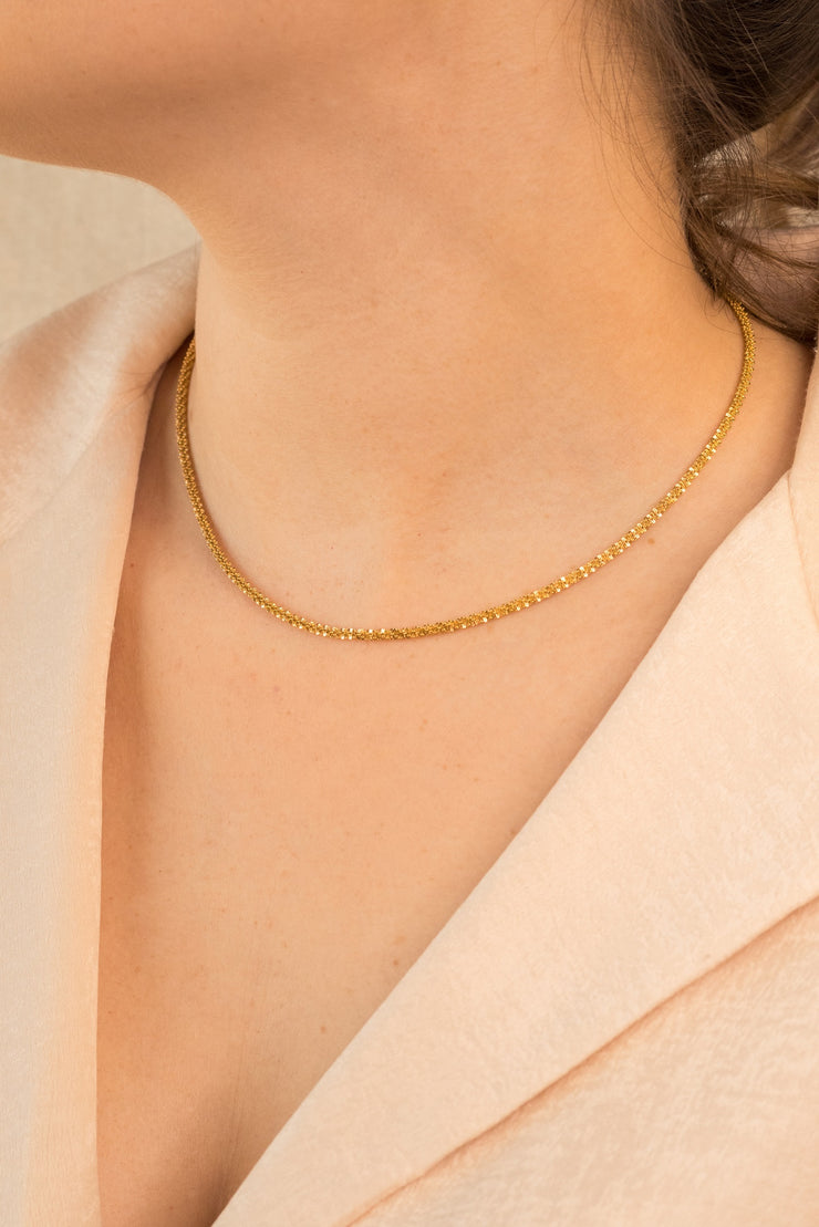 Simplicity Abby Necklace 18k Gold Plated