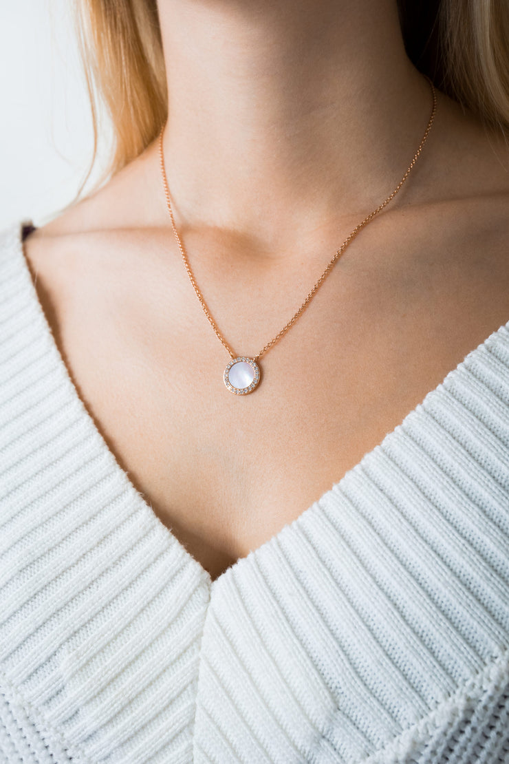 Shell Necklace Myra 18k Rose Gold Plated