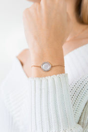 Shell Bracelet Nahia 18k Rose Gold Plated