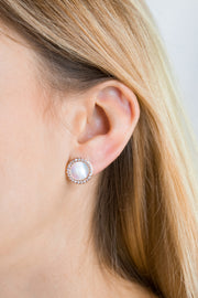 Shell Arielle Earrings 18k Rose Gold Plated