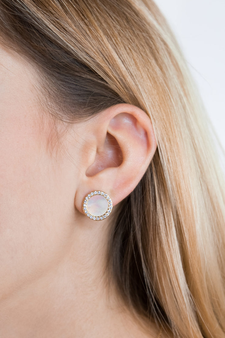 Shell Arielle Earrings 18k Gold Plated