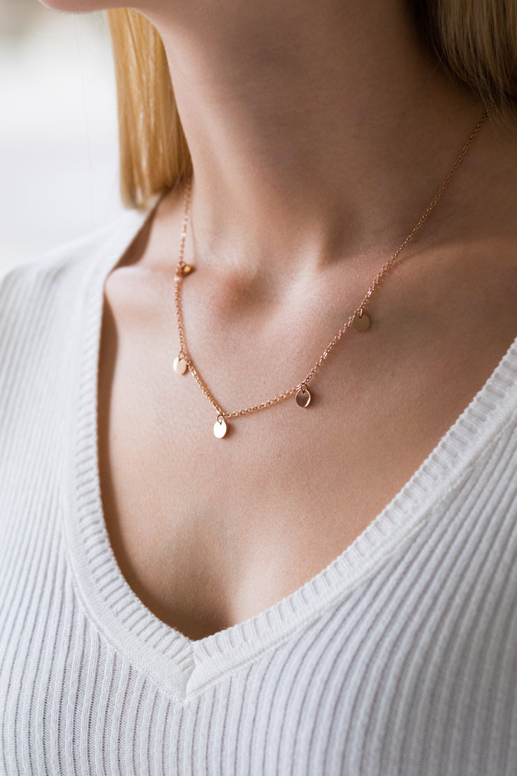 Iconic Iris Necklace Rose Gold