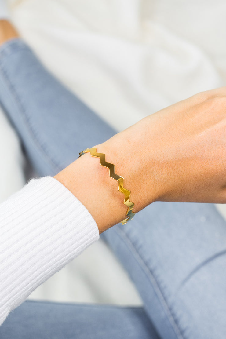 Simplicity Bangle Kacy 18k Gold Plated