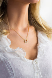 Eternity Circle Necklace 18k Gold Plated