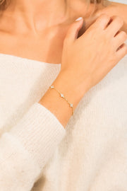 Eternity Cleo Bracelet 18k Gold plated