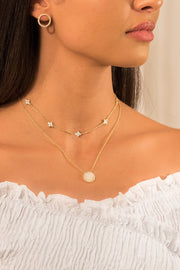 Eternity Clover Necklace 18k Rose Gold Plated