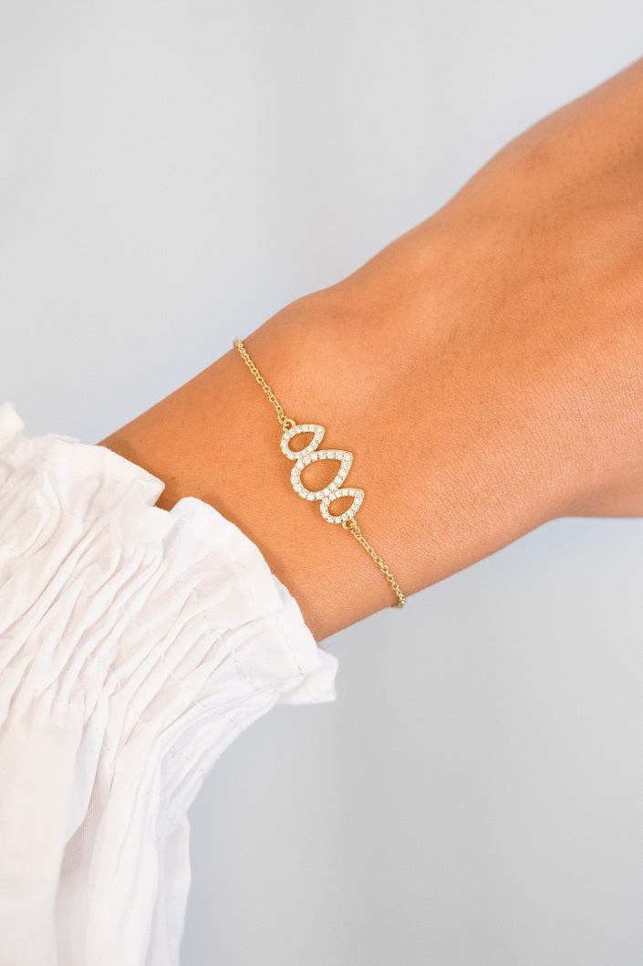 Rainfall Romie Bracelet 18k Rose Gold Plated