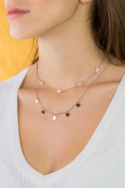Clover & Iris Necklaces Rose Gold Set
