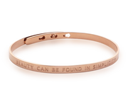 Simplicity Bangle Beauty 18k Rose Gold Plated