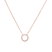 Eternity Circle Necklace 18k Rose Gold Plated