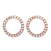 Eternity Loop Earrings 18k Rose Gold Plated