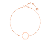 Simplicity Hexagon Bracelet Rose Gold
