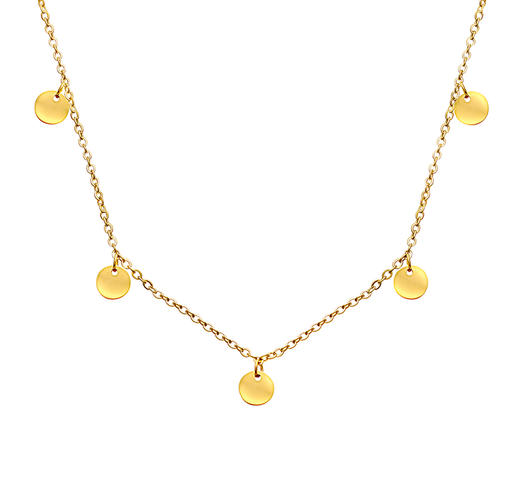 Iconic Iris Necklace 18k Gold Plated