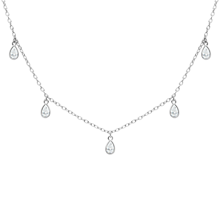 Rainfall Lou Necklace Silver