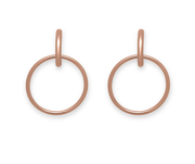 Unity Loyal Earrings 18k Rose Gold Plated